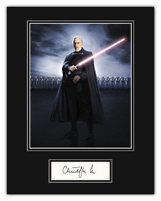 PRICE SLASHED! Christopher Lee (Star Wars Count Dooku) Signed 14x11 Display