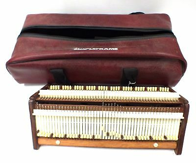 Vintage British Made THE SIMPLE FRAME Portable KNITTING MACHINE in Bag - B94