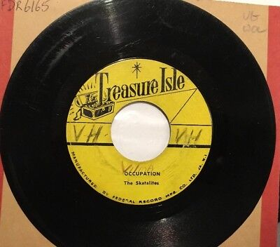 THE SKATALITES Occupation MELODIES Vacation TREASURE ISLE VINYL SINGLE VG
