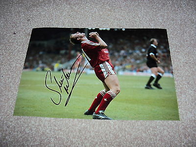 12x8 PHOTO SIGNED LIVERPOOL LEGEND STEVE MCMAHON PRIVATE SIGNING, MIDFIELD STAR