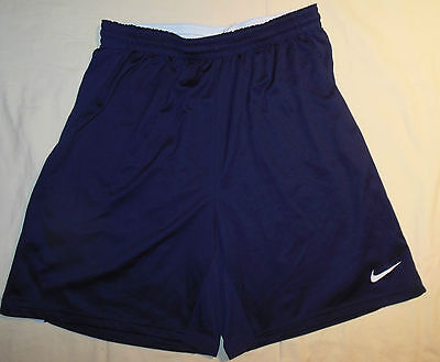 Nike Brand Dri Fit Style Running Athletic Shorts Black + White Stripes Mens M