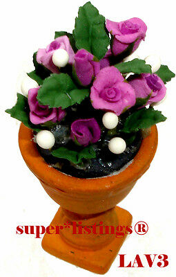 Dept. 56 Potted Flowers Lavender Roses Seasons Bay New 53331 LV3 Free Shipping