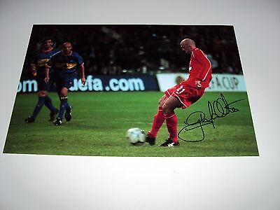 SIGNED 12x8 PHOTO GARY MCALLISTER PENALTY BARCA LIVERPOOL AUTHENTIC MEMORABILIA