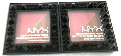 (2) NYX Cheek Contour Duo Palette New & Sealed CHCD04 - Wine & Dine