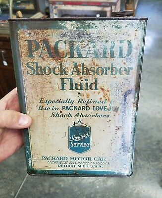 Early Packard Motor Car Shock Absorber Fluid Can One Gallon Packard Car Oil Can