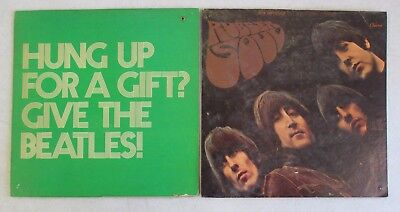 Pair Of Vintage The Beatles Double Sided Cardboard Store Displays Rubber Soul