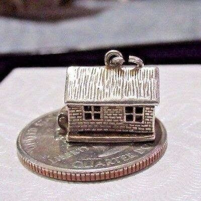 Vintage Sterling Silver *House Home Opens to a Couple in Bed* Charm LOOK