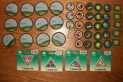 """Lot of new / unused GIRL SCOUT PATCHES """"Spirit of Nebraska"""", achievement awards"""
