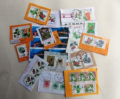 Taiwan - R.O.C stamps on paper  small collection 2 - all shown - about 12 grams