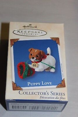 2002 Puppy Love-Jack Russell TerrierHallmark Ornament NIB From 10,000 Pc Lot