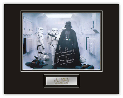 Sale! Star Wars Dave Prowse (Darth Vader) Signed 14x11 Display (DV24)