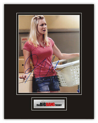 Sale! The Big Bang Theory Kaley Cuoco (Penny) Signed 14x11 Display