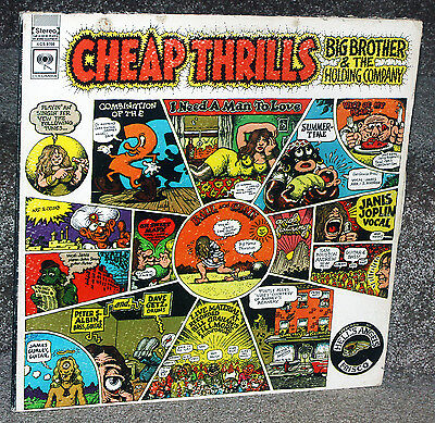 "The Janis Joplin/Big Brother""Cheap Thrills"" Album with cover art by R.Crumb"