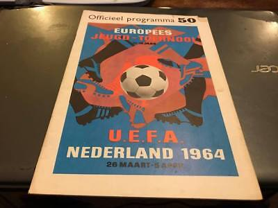 Eoropean Championships 1964---Holland---Football Programme