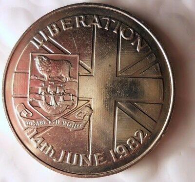 1982 FALKLAND ISLANDS CROWN - WAR OF LIBERATION - Low Mintage Coin - Lot #120