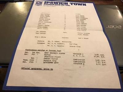 Ipswich Town V Millwall---Youth--Programme--1970's ?