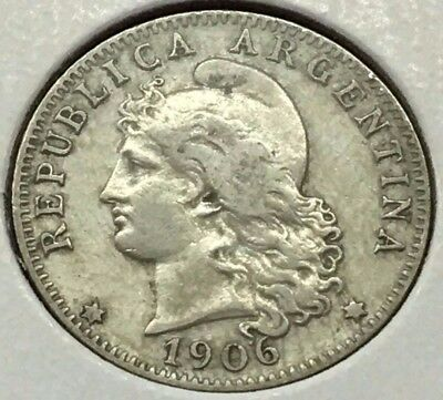 1906 Republica Argentina 20 Centavos Liberty Coin * Free Ship