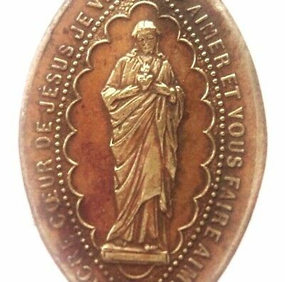 The Sacred Heart Of Jesus Beautiful Antique Medal Pendant From Montmartre
