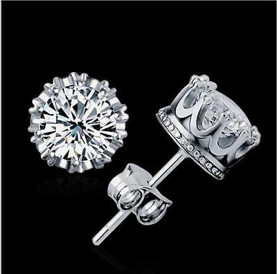 Hot sell Fashion design silver color clear crystal Earring Jewelry gift for girl