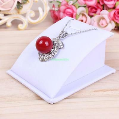 Mini White New Necklace Bust Jewelry Pendant Chain Display Stand Tools Holder B