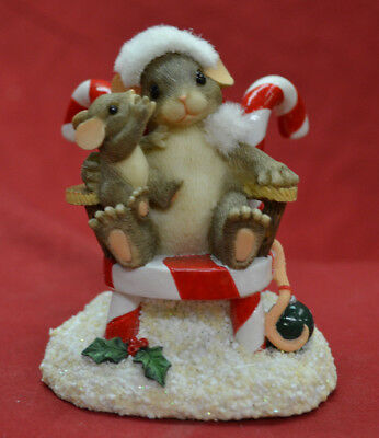 """Charming Tails """"Secrets for Santa"""" Fitz Floyd Mouse Figurine * BRAND NEW *"""