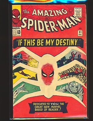 Amazing Spider-Man # 31 - 1st Harry Osborne & Gwen Stacy VG Cond.