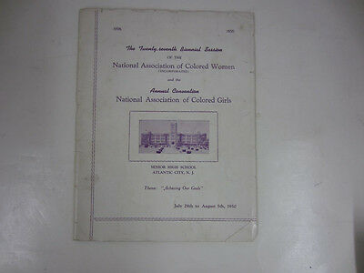1950 NATIONAL ASSOCIATION OF COLORED WOMEN Annual Convention Atlantic CIty, NJ