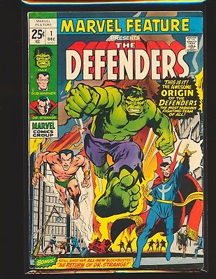 Marvel Feature # 1 - 1st Defenders Neal Adams cover VG/Fine Cond.