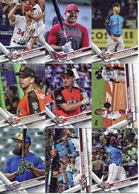 (14) 2017 Topps Update Photo Variation Sp Lot Mike Trout, Bryce Harper, Correa..