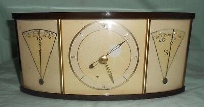 Vintage Art Deco Weather Station-Barometer Thermometer Hygrometer-Wall or Desk