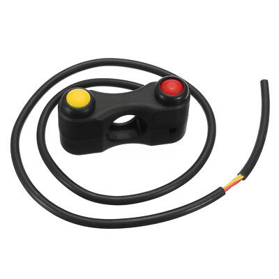 """2 Button Motorcycle 7/8"""" 22 Handlebar ON-OFF Switch Horn Run Start Electric Bike"""