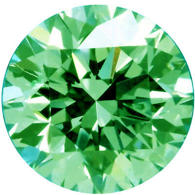 4.61 ct VS1/10.99 mm WHITE RICH GREEN COLOR ROUND LOOSE REAL MOISSANITE 4 RING