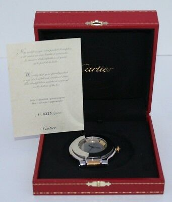 Must De Cartier Must 21 Travel Table Desk Alarm Clock Limited Numbered Series