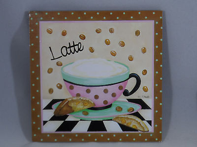 Latte Sign with Coffee Cup Christmas Tree Ornament new holiday