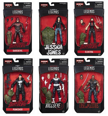 Marvel Legends Netflix Series Baf Man Thing Complete Set Of 6