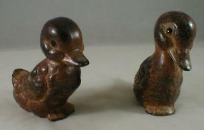 Pair of Porcelain Ducks Vintage Japan