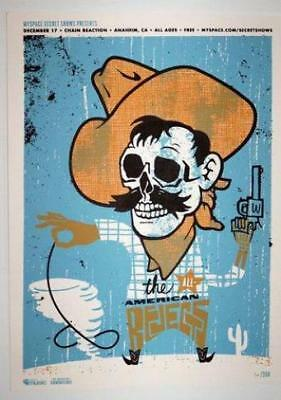 All American Rejects Anaheim 2008 Original Concert Poster Silkscreen