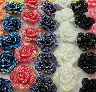 3pcs Mix Color Resin flower Rings Wholesale Jewelry Lots   free shipping