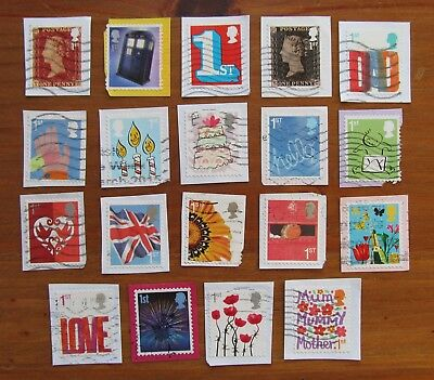 GB Used Stamps FIRST 1st CLASS SMILERS PICTORIALS x19 Modern Recent Kiloware (H)