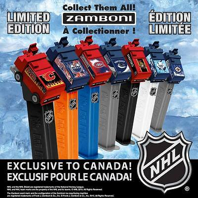 TWO COMPLETE 2015 NHL Hockey Zamboni Pez SETS, 1 on Cards (14 Pez Dispensers)