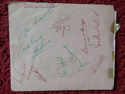 Glamorgan / Nottinghamshire Cricketer Autographs 1960