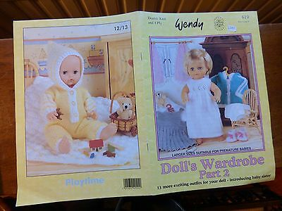 Wendy DOLL'S WARDROBE PART 2 - 13 Patterns for Baby/Toddler Dolls, 12-22""