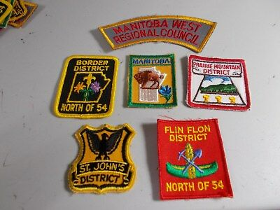 (ADB5-Rj) SIX  MANITOBA  SCOUT  BADGES   UNUSED     CANADIAN SCOUT STORE