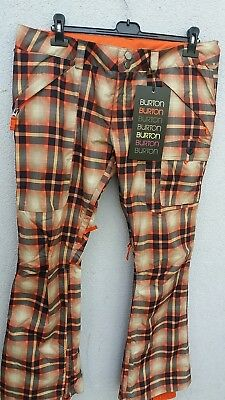 BURTON SB-Hose INDULGENCE orange Karo. Damen Gr.XL  NEU
