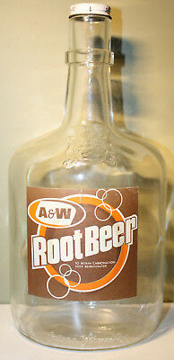 A&W Vintage Canada Advertising Root Beer Orange 80oz Giant Bottle Calona Wines