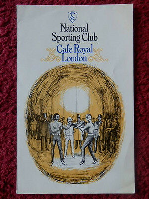 National Sporting Club Boxing Programme 1981