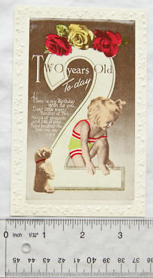 vintage Greetings postcard Two Years Old Today