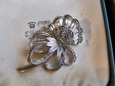 Vintage Signed Sphinx Jewellery Gorgeous 3D Silver Marcasite Flower Brooch Pin