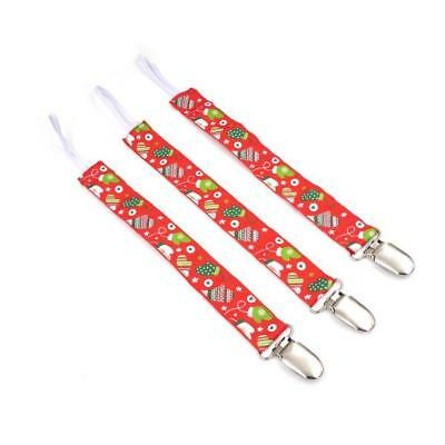 Wholesale job lot Christmas baby dummy clips straps x 8 NEW