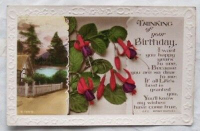 vintage postcard - Thinking of your Birthday